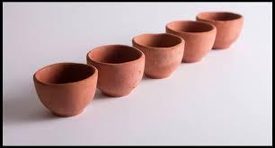 Handmade Tea Cups - handmade unglazed clay chai tea cups made in india by spice