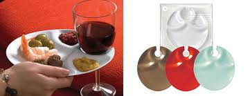 cocktail party plates with built in stemware holders the green head