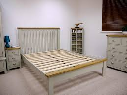 grey painted oak king size bed oak city