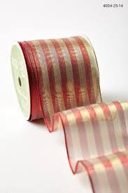 wired ribbon 2 5 inch metallic stripes wired ribbon and gold buy