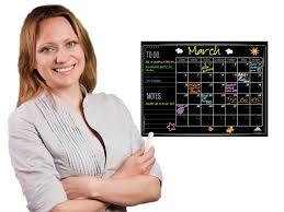 Wall Calendar Organizer System Amazon Com Large Chalkboard Wall Calendar Planner By Flat