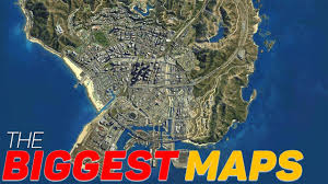 World Map Actual Size by Top 10 Biggest Maps In Open World Video Games Youtube