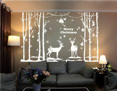 angel snowflake christmas tree vinyl wall window sticker decal