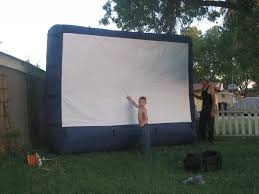 airblown gemmy screen pictures and review backyard theater forums