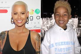 hair rings buy images Amber rose 39 s son dyes his hair blonde like mom jpg