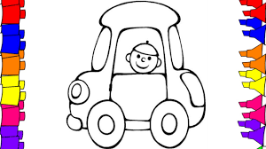 colouring book kids colored markers baby car coloring