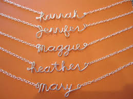 best flower girl gifts sterling silver personalized wire name necklace handmade jewelry