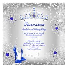 royal blue quinceanera invitations u0026 announcements zazzle