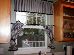 kitchen window drapes stainless steel kithcen aid black white