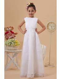 simple communion dresses discount simple a line bateau floor length lace appliques white