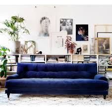 Blue Sofas And Loveseats Decor Appealing Terrific Velvet Sectional Sofa And Velvet Settee