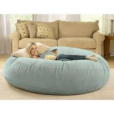beanbag cushion bed relaxing sitting sofa and ottomans sky blue