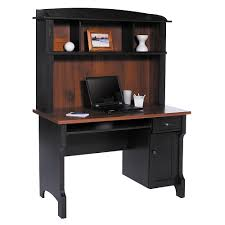 Corner Computer Desk With Hutch by Furniture Antiqued Dark Black Corner Computer Desks