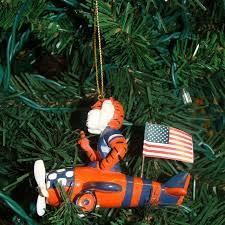 the aubie airplane ornament by chion sales is crafted