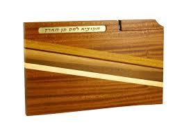 shabbat l cutting board with knife blessing wooden bread board knife