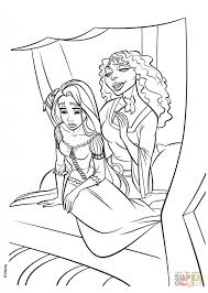 free tangled coloring pages download mother gothel has brought rapunzel back to the tower