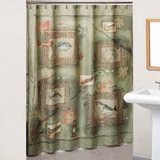 Themed Shower Curtains Fishing Shower Curtain Foter
