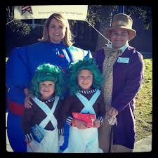 willy wonka halloween costumes halloween oompa loompa willie wonka and violet beauregard