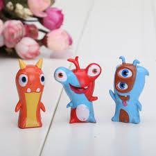 5cm cute new movie cartoon slugterra figures toys pvc dolls gift