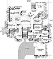 5 bedroom 1 story house plans florida style house plans 5131 square foot home 1 story 5