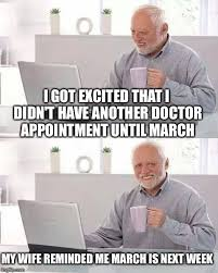 Doctor Appointment Meme - i instantly felt like harold and this meme was born imgflip