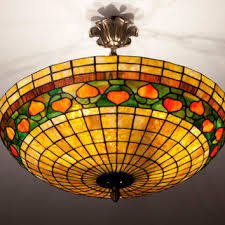 stained glass ceiling light fixtures tiffany acorn plafond ceiling lightning from wpworkshop on etsy