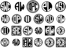 3 initial monogram fonts the set of 4 circle monograms fonts let you create custom 2 and 3