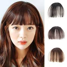 hair extensions for thinning bangs natural ultra thin bang clip on hair fringe extensions fake wigs
