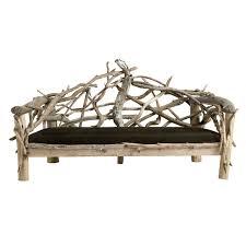 canape rustique canapé de style rustique classique bois 2 places louis