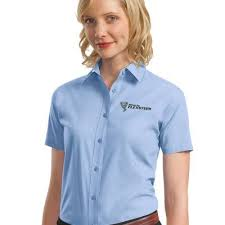 women u0027s dress shirts custom logo embroidered