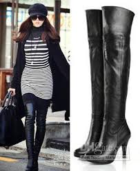s knee boots on sale s genuine leather platform knee thigh high heel