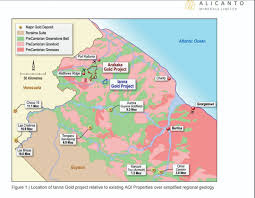 Guyana Map Guyana Gets Another Large Scale Gold Producer Guyana Times
