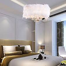 oofay light contemporary luxuriant white feather chandelier with