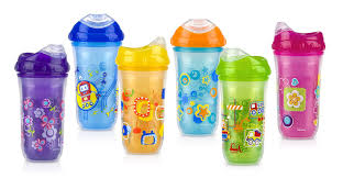 amazon com nuby no spill insulated cool sipper 9 ounce colors