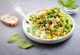 cuisiner des petits pois petits pois carottes lardons rececette moulinex