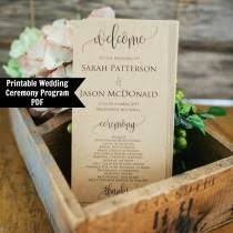 Rustic Wedding Program Template Invitaciones Y Papelería 23 Weddbook