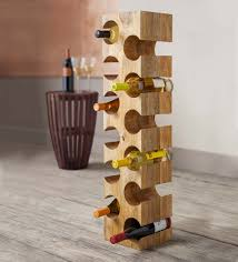 mango wood 12 bottle wine rack vivaterra