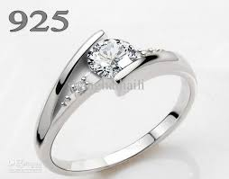silver diamond rings 2018 diamond ring 925 silver do not fade not allergic with a