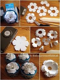 Paper Flowers Video - using stampin u0027 up u0027s blossom punch to make a paper flower