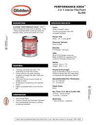 performance edge 3 in 1 interior flat paint glidden pdf