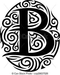 letter b tribal design vector illustration search clipart