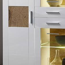 Esszimmer Mit Glastisch Esszimmer Highboard Varbella In Weiß Hochglanz Mit Glas