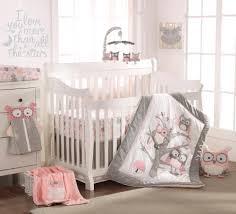 levtex baby night owl 5 piece crib bedding set pink babies