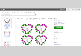 free valentine u0027s day templates for ms office
