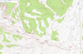 Oregon Topographic Map by Topographic Map Of Lower Fish Creek Cedar Mesa Utah