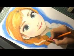 speed drawing anna frozen diana diaz