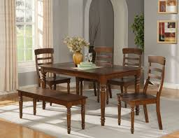 Flowers For Dining Room Table by Modern Wood Dining Table With Bench And Four Chairs Also Flowers