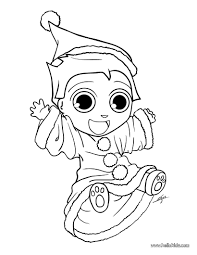 happy xmas elf coloring pages hellokids com