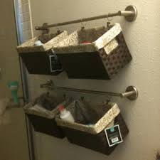 Storage Towels Small Bathroom by Best 25 Hanging Basket Storage Ideas On Pinterest Hanging Wall