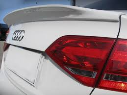 audi a4 spoiler painted process trunk spoiler for audi a4 b8 c type saloon 2008